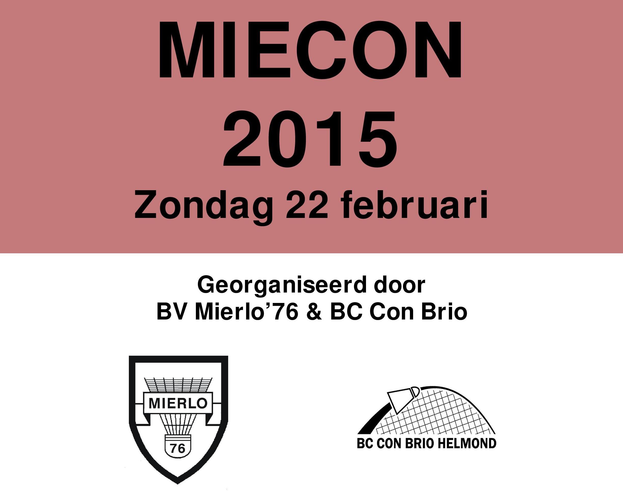 Uitnodiging MieCon Seniorentoernooi 2015