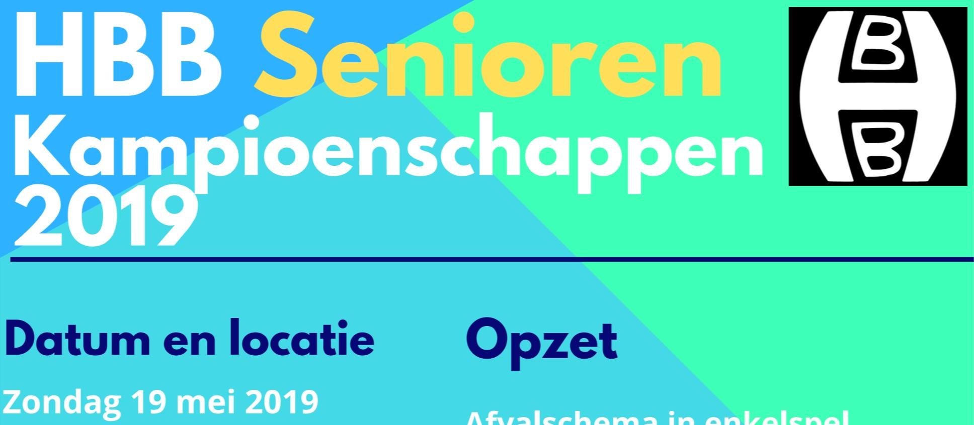 Uitnodiging HBB Senioren Kampioenschappen 2019