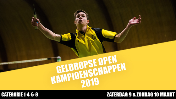 Uitnodiging Geldropse Open Kampioenschappen 2019!