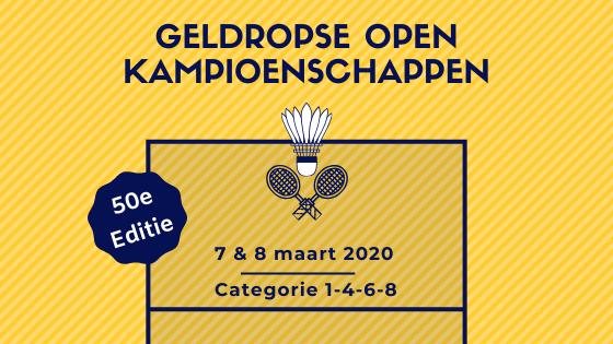 Uitnodiging Geldropse Open Kampioenschappen 2020