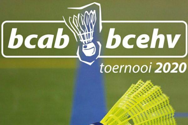Uitnodiging BCAB/BCEHV toernooi 2020