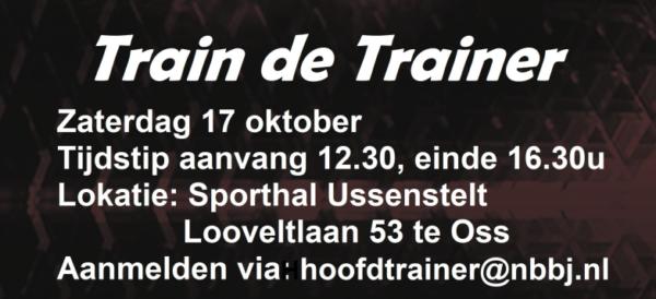 'Train de trainer' bijscholing gratis aangeboden door NBBJ