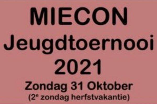 Uitnodiging MieCon Jeugdtoernooi 2021